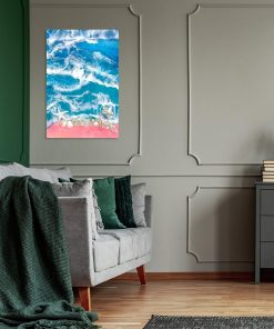 a picture for the living room with a sea theme with shells and stones