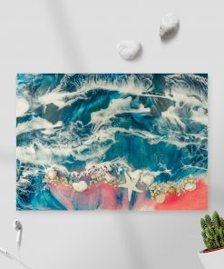 picture resin sea sea with stones